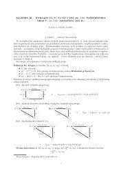 Wykłady IV, V, VI, VII i VIII