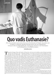 Quo vadis Euthanasie?