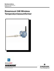 Rosemount 248 Wireless Temperaturmessumformer - Emerson ...