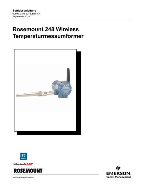 Rosemount 248 Wireless Temperaturmessumformer - Emerson ...