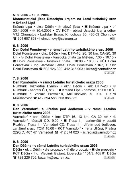 KALENDÁŘ - KČT oblast Ústecký kraj