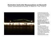 Illumination bedruckter Bauzaunplanen am Neumarkt