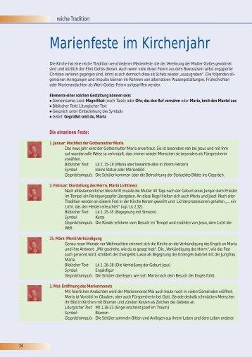 Marienfeste im Kirchenjahr – Impulse 2007, Heft 3