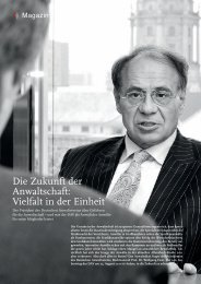 Die Zukunft der Anwaltschaft - Deutscher Anwaltverein