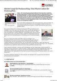 Bischof sorgt für Paukenschlag: Drei Pfarrer ... - Priesternetzwerk