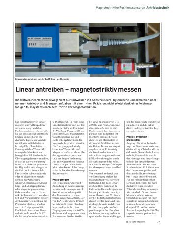 Linear antreiben – magnetostriktiv messen - SWISS ENGINEERING ...