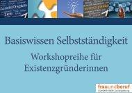Basiswissen Selbstständigkeit - Ludwigsburger Unternehmerinnen