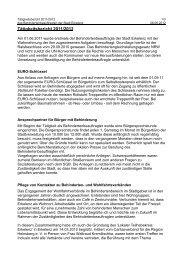 Tätigkeitsbericht 2011/2012 - Erkelenz