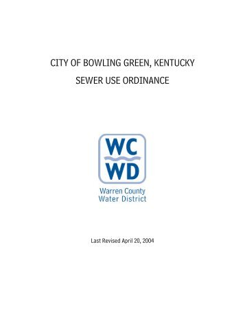 city of bowling green, kentucky - Warren County Water District