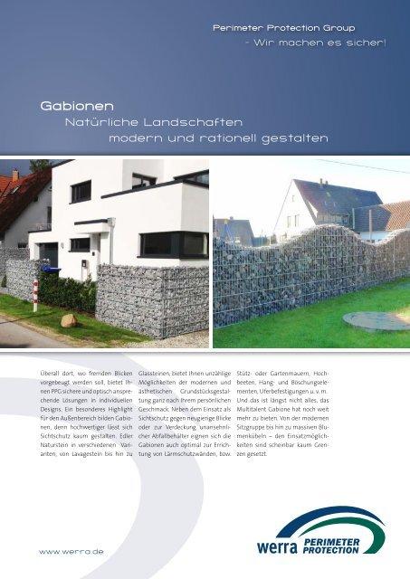 Broschüre Gabionen - Perimeter Protection Group
