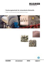Trocknungstechnik für mineralische Rohstoffe - Allgaier Werke GmbH