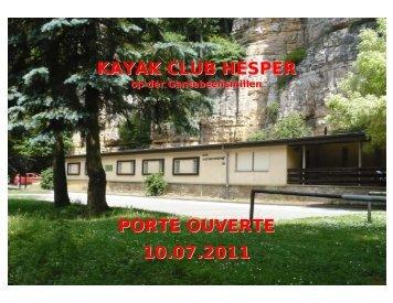 KAYAK CLUB HESPER PORTE OUVERTE 10.07.2011 - kayakhesper