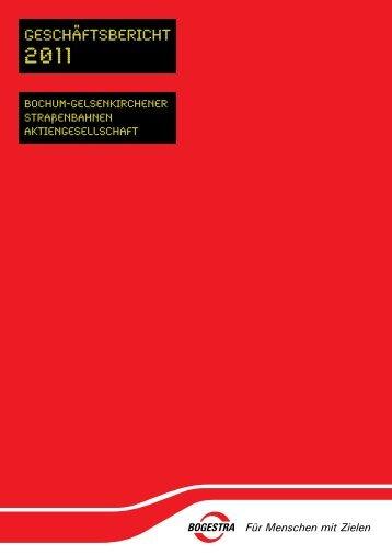 Geschäftsbericht 2011 - Bogestra