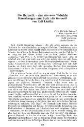 Die Hermetik - eine alte neue Weltsicht. [...].