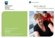 KOL-tilbud - PLHO - For Praktiserende læger i Holstebro Kommune