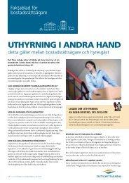 UTHYRNING I ANDRA HAND - Fastighetsägarna