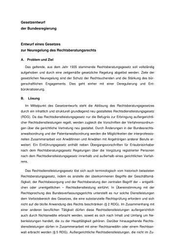 Rechtsdienstleistungsgesetz - Konsens e.V. Verein zur Förderung ...