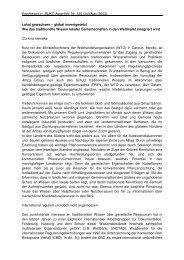 Erschienen in: BUKO AgrarInfo, Nr. 125 (Juli/Aug. 2003). Lokal ...