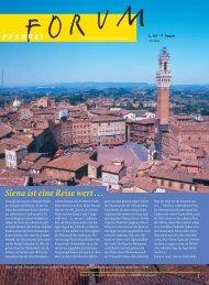 Siena ist eine Reise wert . . . - Pfarreiforum