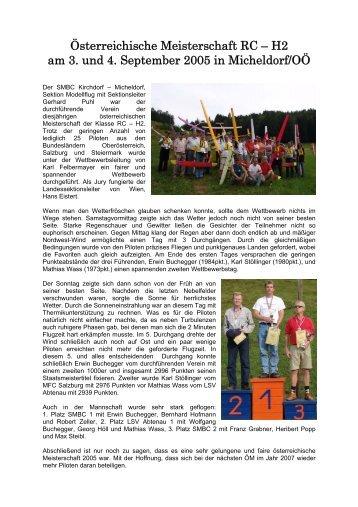 Österreichische Meisterschaft RC-H2 am 3.-4. 9. 2005 in ... - Prop