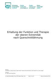 Erhaltung der Funktion und Therapie der oberen Extremität nach ...