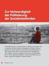 Zur notwendigkeit der Politisierung der Sozialarbeitenden