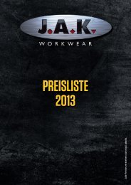 JAK prisliste_2013_DE.indd - JAK Workwear