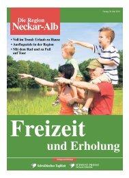 Die Region Neckar-Alb • Freizeit und Erholung - Schwäbisches ...