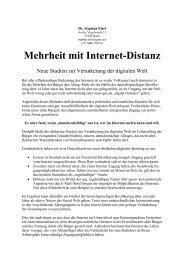 Mehrheit mit Internet-Distanz - Stephan Eisel