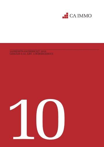 JAHRESFINANZBERICHT 2010 GEMÄSS § 82 ABS. 4 ... - CA Immo