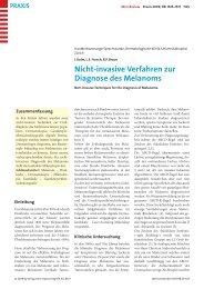 Diagnose des Melanoms - Berner Institut für Hausarztmedizin ...