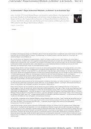 """Side 1 af 2 """"O sink hernieder"""": Wagner kommentiert Offenbachs """"La ..."""