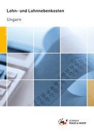 Lohn- und Lohnnebenkosten Ungarn - Germany Trade & Invest