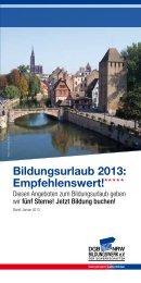 Bildungsurlaub 2013: Empfehlenswert! - DGB-Bildungswerk NRW e.V.
