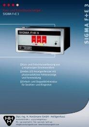 Prospekt SIGMA F+E 3 - Horstmann Gmbh