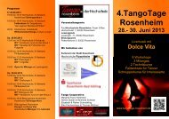 4.TangoTage Rosenheim 28.- 30. Juni 2013 - Tango Argentino in ...
