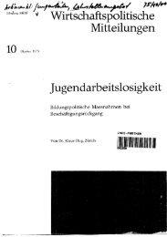 Wirtschaftspolitische - Serveur suisse de documents pour l ...