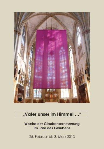 """""""Vater unser im Himmel …"""" - Domsite Billerbeck"""