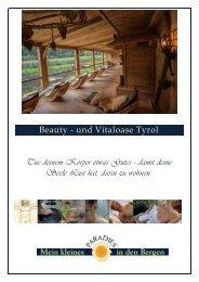 Beautypreisliste herunter (pdf)! - Alphotel Tyrol