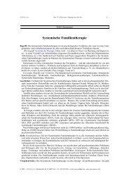 Systemische Familientherapie - Netzwerk Psychotherapie und ...