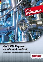 Das SONAX Programm für Industrie & Handwerk