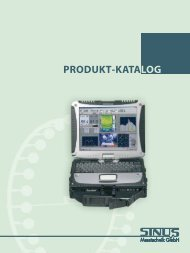 PRODUKT-KATALOG - SINUS Messtechnik GmbH