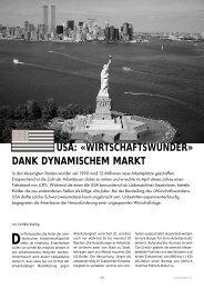 USA: «WIRTSCHAFTSWUNDER» DANK DYNAMISCHEM MARKT