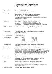 Hinweise - bei swissendurance.ch!