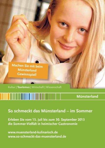 Sommeraktion Regionale Speisekarte - Münsterland