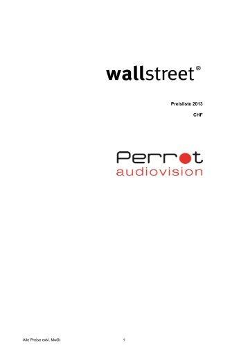 Wallstreet Preisliste 2013 - Perrot Audiovision