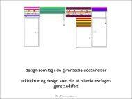 design som fag i de gymnasiale uddannelser arkitektur og design ...