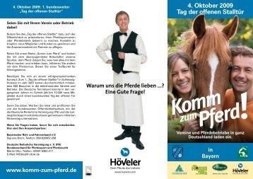 4. Oktober 2009 Tag der offenen Stalltür - Bayerischer Reit