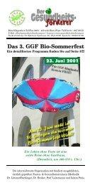 Der Gesundheitsförderer, 2. Ausgabe, Mai 2001 - GGF