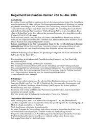 Reglement 24 Stunden-Rennen von Su.-Ro. 2006